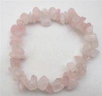 Wholesale Cheap Natural Rose quartz bracelet natural chip semi precious stone MM stretch charm jewelry bracelet women amp Girl
