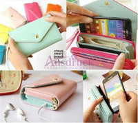 Wholesale Coin Purses Crown Newest Multi propose wallet case pouch Purse for Samsung Galaxy S2 iphone S S