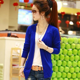 Wholesale Spring new Korean Women Slim thin primer sun protection clothing air conditioning thin knit cardigan sweater