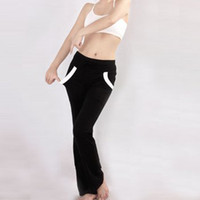 Wholesale Brand New Sexy Comfortable Black Tight Yoga Pants Pilates Fitness Workout Foldover Butt Pants