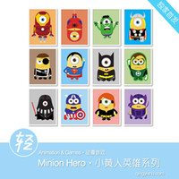 Wholesale Light Art Anime Game Minions American Hero Set Custom DIY Cute Funny Pop Cartoon Picture Movie Poster Prints Kids Wall Decor Canvas Painting