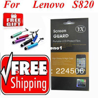 Mobile Phone Yes For Lenovo lephone S820 820 2pcs lot Hot Screen Protector Guard Shield For Lenovo lephone S820 820 Free Shipping with Retail Packaging + Stylus Pen