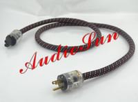 HiFi ac power cord audio - 2Meter High End US Plug P Audio AC power Cable AC Mains cord