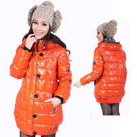 Wholesale 2013 Korean version of high quality version of the thick bright skin warm winter long paragraph Slim hooded white duck down jacket female ti