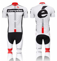 Wholesale 2014 short sleeves cycling jersey cervelo black and white color cycling team jersey fashion men s cycling jersey shorts
