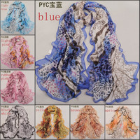 Wholesale 2014 new fashion chiffon scarves georgette long shawl scarf women foulard imitated silk fabric scarves for sale PYC