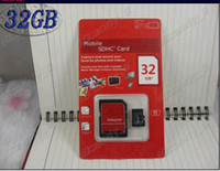 Wholesale GB Class Free Adapter Micro SD TF Memory Card Flash SDHC Cards With Red Retail Box Cheap Resell Free Drop Shipping