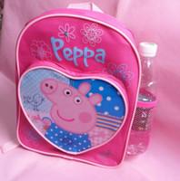Kids Peppa Pig & George Pig Cartoon Canvas Children's Sc...