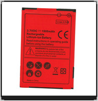Wholesale US Seller For HTC EVO SHIFT G Lithium battery Red Color Battery standard battery for HTC Touch Pro2 Droid incredible S511 mAh