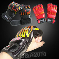 Wholesale Martial Art Half Mitt Free Combat Punching Kicking Bag MMA Boxing Gloves Fitness