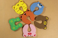 Wholesale Cartoon Animal Door stopper holder for kids baby lock Safety Guard Finger