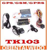 Wholesale Car GPS Tracker system GPS GSM GPRS Car Vehicle Tracker Device TK103 SD Card Slot top sale