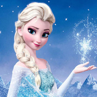 White Blonde Frozen Snow Queen Elsa Blonde Weaving Braid Cos...