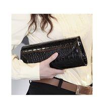 Wholesale 2014 Fashion Designer Crocodile Pattern Ladies Shoulder Chain Bag Wallet PU Leather Clutch Evening Bag Purse for Women Handbag H9913