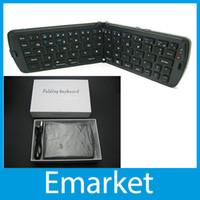 Folding IPad & Tablet Bluetooth Portable Universal Bluetooth Keyboard Wireless Folding Keyboard For TV Laptop Desk Computer Tablet ipad PC With Retail Box