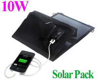 Wholesale Foldable W Universal Camping outdoor travel USB Solar Charger for iPhone Samsung HTC MP3 MP4 Smartphones tablet dandys