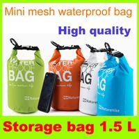 Wholesale 1 L Waterproof Storage bag Mini mesh fabric Compress Camping bag Outdoor Organize Bag Large Capacity Travel Kit Dry Bag Outdoor Gear bag H