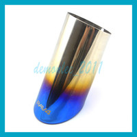1pc New Arrival Stainless steel Car exhaust pipe muffler tai...