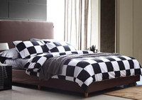 Wholesale 4pcs Cotton Black amp White Color Printed Bedding Set Queen King Size Quilt Cover Pillowcases Bed Sheet