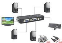 Wholesale New Portable Ps2 KVM Ports Selector VGA Print Auto Switch Box KVM Vga Keyboard And Mouse Sharing HZ