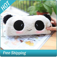 Wholesale Cute Soft Plush Panda Pencil Pen Case Bag in Bag Cosmetic Makeup Bag Pouch