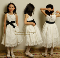 TuTu lace bow - Girl Summer Children Sleeveless Lace Bow Tutu Dresses Kids Tank Bowkont Ruffles Princess Dress Childs Hollow Vintage Dressy H0463
