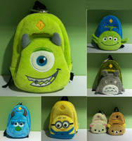 Coin Purses Blue Cartoon Mini Cute Cartoon Despicable Me Totoro Monsters Coin Cases Monsters University Yellow Duck Key Purse Storage Bag Small Cases Hot On Sale