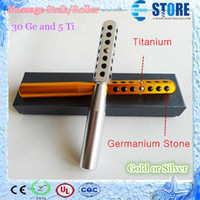 Wholesale Facial Body Beauty Massage Roller equipment with Germanium and Titanium anion energy cc colors with retail box M
