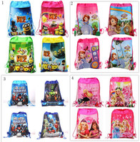 Wholesale 1404L Avengers barbie sofia the first despicable me sided non woven Drawstring Bag Drawstring bags hjh