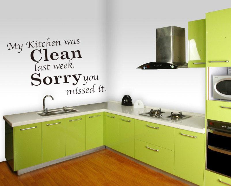My Kitchen Is Clean Last Week Sorry You Missed It Removable Quote Wall  Decals Vinyl Wall Art Sticker Decor Wall Decals Quotes Wall Decor Stickers  Kitchen ...
