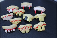Wholesale 201404Q Hot Selling Fake Joke Teeth False Teeth Rotten Teeth Party Fancy Halloween Joker color sent at random