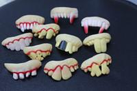 false teeth - 201404Q Hot Selling Fake Joke Teeth False Teeth Rotten Teeth Party Fancy Halloween Joker color sent at random