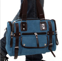 Wholesale Details about New men s retro bag leisure handbag shoulder bag weekender Messenge bag