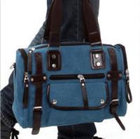 Wholesale Details about New men s retro bag leisure handbag shoulder bag weekender Messenge bag