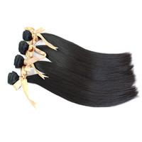 Brazilian Hair Straight Straight Brazilian Virgin Hair Human Hair Weave Double Weft Natural Color Grade 6A Straight Hair Weaves 4Bundles Dyeable &Bleachable 100g pcs
