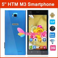 """5. 0"""" HTM M3 Xiaomi MI3 Dual Core MTK6572 phone 1. 3GHz a..."""