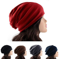 Wholesale S NEW Women s Chic Baggy Berets Oversized Beanie Ski Slouchy Cap Winter Hat Berets