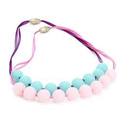 Handmade silicone Baby teethers Teething Necklace Mommy Silicone necklaces,beads necklaces