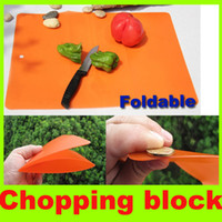 PP plastic  plastic board cutting board - 0 mm Folding chopping block PP plastic outdoor cutting board ultra thin portable Chopping Board camping hiking utility kitchenware tool H