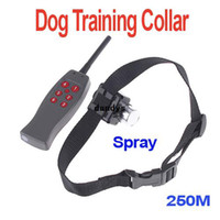 Wholesale 250M Spray Remote Control Pet Dog Training Anti Bark Collar Suitable for Most of Dogs H4385 freeshipping dropshipping dandys