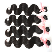 Brazilian Hair cheap brazilian hair - 4pcs Cheap Brazilian Hair Bundles Body Wave Wavy A Virgin Hair Extensions Natural Color Unprocessed Brazilian Human Hair Weave Wefts
