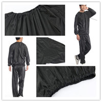 L-XXXL sauna suit - Fashion Hot Weight loss sauna suit sweat clothes clothing men and women lose weight slimming Workout clothes diet