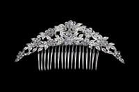 Wholesale Crystal Diamond Bridal Hairs Crown Combs Wedding Bridal Tiara Jewelry Crystal Hair Luxury Wedding Dress Accessories