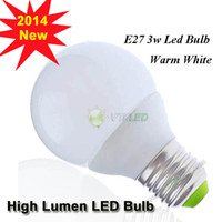 Wholesale 2014 New e27 globe led bulb w led lamp high lumen SMD LED bulb dining room light cold white AC V