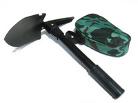 Wholesale High Quality Mini Multi function Folding Shovel Survival Trowel Dibble Pick Camping Outdoor Tool K07511