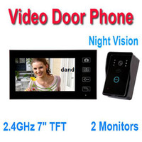 H9505 2.4Ghz Wireless video door phone - 2 GHz quot TFT Wireless Video Door Phone Hands Free Visual Intercom Doorbell Photo Taking Touch Key Monitors EMS Freeshipping dandys