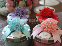 Wholesale 2014 Hot Europe Style Iron Boxes Wedding Favor Holders Flowers Ribbon Big Small Two Size Candy Box Party Gift Wedding HoldersH0467