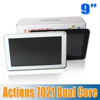 Wholesale 9 quot Dual Core Android Tablet PC actions MB RAM GB Android inch actions WIFI OTG HDMI point touch camera seven eleven