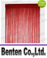 Wholesale LLFA4973 Wine Red String Curtain Fringe Curtain panel for weddings and events decoration
