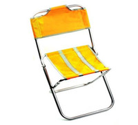 Wholesale Outdoor Camping Fishing Ultra light Aluminum frame folding back chair